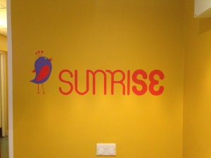 logo in reception